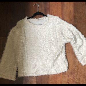 zara fluffy sweater